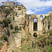 Bridge In Ronda Art Print