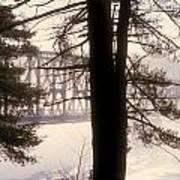 Bridge In The Fog Art Print