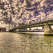 Bridge Over Rotterdam  Art Print