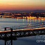 Bridge Over Tagus Art Print