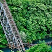 Bridge Over The Lazy River Art Print