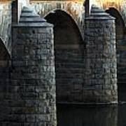 Bridge Pillars Art Print
