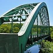 Bridge Spanning Connecticut River Art Print