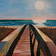 Bridge To Beach Art Print