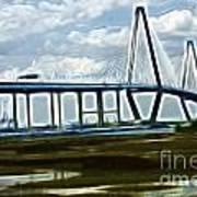 Bridge To Charleston Art Print