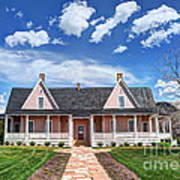 Brigham Young Forest Farm Home Art Print