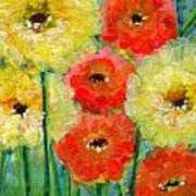 Bright Colored Flowers Shine Art Print