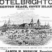 Brighton Beach Hotel, 1880 Art Print
