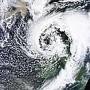 British Isles Storm And Ash Plume, 2011 Art Print