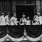 British Royal Family. From Center, L-r Art Print by Everett