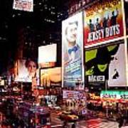 Broadway At Times Square Art Print
