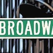 Broadway Sign Color 16 Art Print