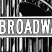 Broadway Sign Color Bw10 Art Print