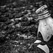 Broken Plastic Bottle Art Print
