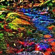Brook Texture 52 Art Print