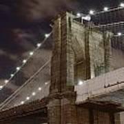 Brooklyn Bridge At Night - Btc-merge Art Print