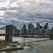 Brooklyn Bridge Carousel Art Print