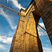 Brooklyn Bridge End Of The Day Art Print