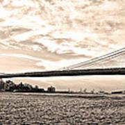 Brooklyn Bridge In Sepia Art Print