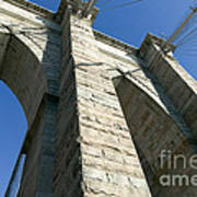 Brooklyn Bridge Tower I Art Print