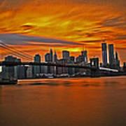 Brooklyn's Twilight V2 Art Print by Michael Murphy