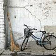 Broom And Bike Art Print
