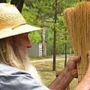 Broom Maker Art Print