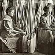 Broom Manufacture, 1908 Art Print by Granger