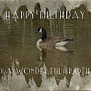 Brother Birthday Greeting Card - Canada Goose Art Print