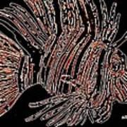 Brown Lion Fish Art Print