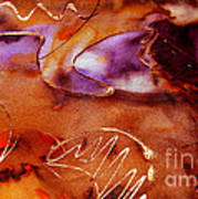 Brown Purple And Bronze  Art Print
