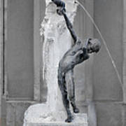 Brunnenbuberl - Boy At The Fountain -  Munich Germany Art Print by Christine Till