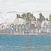 Bubble House In Pencil Skech Art Print