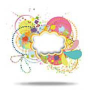 Bubble Speech Art Print