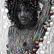 Bubble Woman Art Print