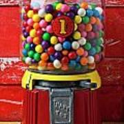 Bubblegum Machine And Gum Art Print