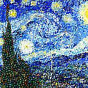 Bubbly Starry Night Art Print