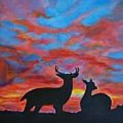 Buck And Doe Art Print