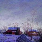 Bucks County Winter Twilight Art Print