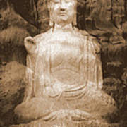 Buddha And Ancient Tree Art Print