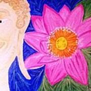 Buddha Lotus Peace Art Print