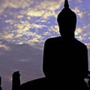 Buddha Silhouette Art Print