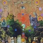 Buddha's Garden Party Art Print by Douglas Fromm