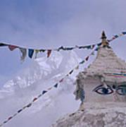 Buddhist Shrine In The Himalayas Art Print