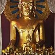 Buddhist Statue In Wat Phra Singh Art Print