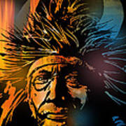 Buffalo Headdress Art Print
