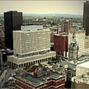 Buffalo New York Aerial View Art Print