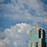 Building With Its Head In The Clouds Art Print
