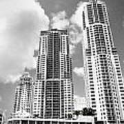 Buildings Downtown Miami Art Print