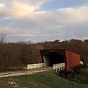 Built In 1883 Roseman Bridge Art Print